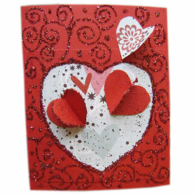 Valentines Heart Card Cardmaking Kids Crafts Crafty Corner – Valentine Heart Cards