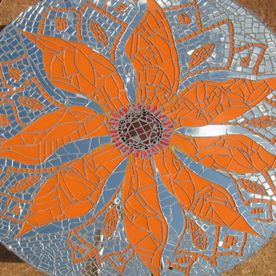 what materials you need to make a mosaic flower table round table top ...