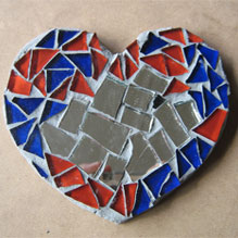 completed mosaic heart