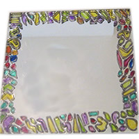 mirror painting glass painting kids crafts crafty corner