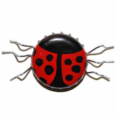 Bottletop Bug Fridge Magnets Metal Recycling Crafty