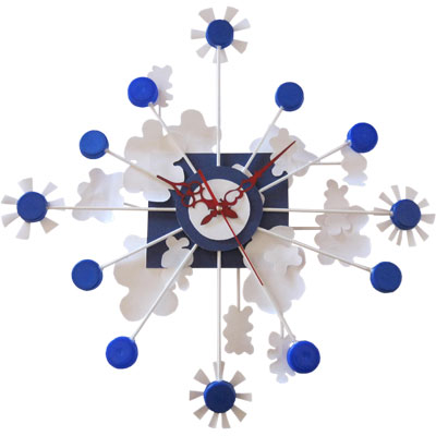 recycled plastic milk bottle floating clock