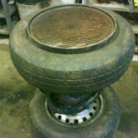 Two In One Braai Amp Table Rubber Recycling Crafty Corner