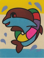 baby dolphin sand art kit