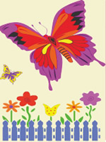 butterfly sand art kit
