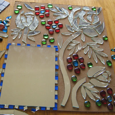 Craft Ideas For Mirror Tiles